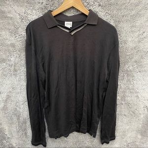 Armani Long Sleeve Polo Shirt